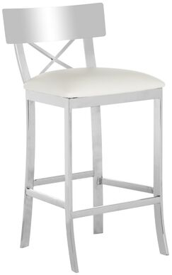 Burnside 30.5'' Bar Stool Upholstery Color: White