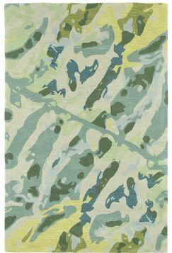 Charlayne Hand Tufted Green/Beige Area Rug Rug Size: Rectangle 5' x 7'9