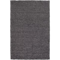 Arthur Hand-Crafted Charcoal Gray Area Rug Rug Size: Rectangle 2' x 3'