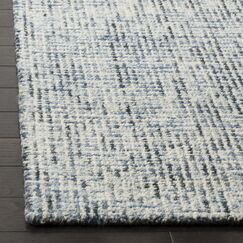 Port St. Joe Hand-Tufted Blue/Charcoal Area Rug Rug Size: Square 6'
