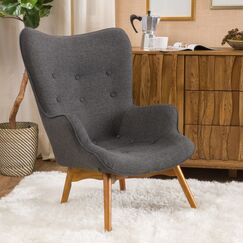 Canyon Vista Mid-Century Lounge Chair Upholstery: Dark Grey
