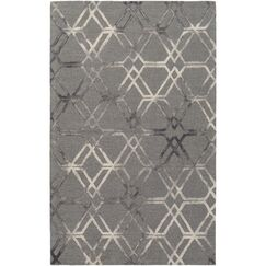 Viminal Hand-Hooked Medium Gray Area Rug Rug Size: Rectangle 5' x 7'6
