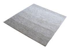 Palm Bay Handmade Gray Area Rug Rug Size: Square 6