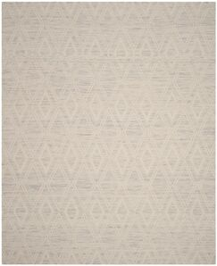 Alexandria Hand-Woven Silver/Ivory Area Rug Rug Size: Rectangle 3' x 5'