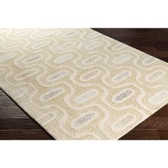 Duane Hand-Tufted Neutral/Green Area Rug Rug Size: Runner 2'6