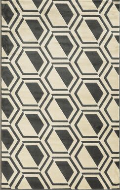 Suzanne Grey/Charcoal Area Rug Rug Size: Rectangle 8' x 10'