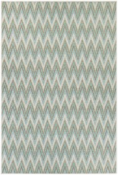 Conesus Blue Chevron Indoor/Outdoor Area Rug Rug Size: Rectangle 5'10