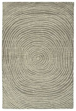 Caneadea Hand-Tufted Gray Area Rug Rug Size: Rectangle 2' x 3'