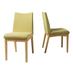 Traditions Side Chairs Upholstery Color: Green Tea, Finish: Oak