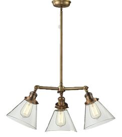Ellison 3-Light Shaded Chandelier Shade Color: Clear, Size: 11