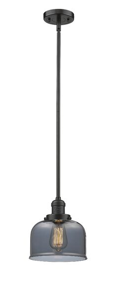 Wymore 1-Light Cone Pendant Shade Color: Smoked, Finish: Oil Rubbed Bronze