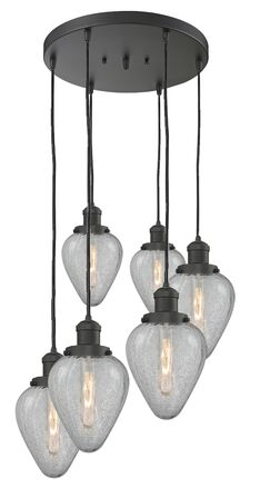 Bontrager 6-Light Cluster Pendant Finish: Polished Nickel