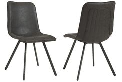 Shanelle Upholstered Dining Chair Upholstery Color: Vintage Gray