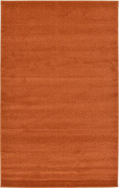 Sellman Rust Red Area Rug Rug Size: Rectangle 6'7