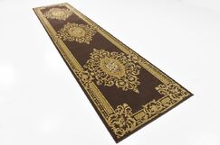 Cano Brown Area Rug Rug Size: Runner 3' x 13'