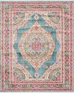 Lonerock Turquoise/Pink Area Rug Rug Size: Rectangle 8'4