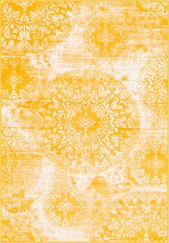 Brandt Yellow Area Rug Rug Size: Rectangle 4' x 6'