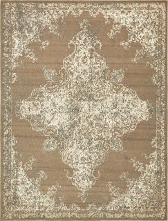 Forcalquier Brown Area Rug Rug Size: Rectangle 9' x 12'