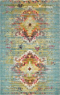 Cassava Turquoise Area Rug Rug Size: Rectangle 10'6