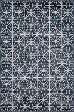Uptown Fifth Avenue Navy Blue Area Rug Rug Size: Rectangle 4' x 6'