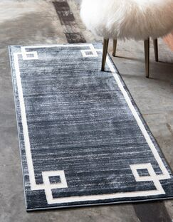 Uptown Hill Navy Blue Area Rug Rug Size: Runner 2'2