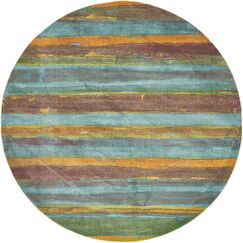 Purington Gray Area Rug Rug Size: Round 8'2