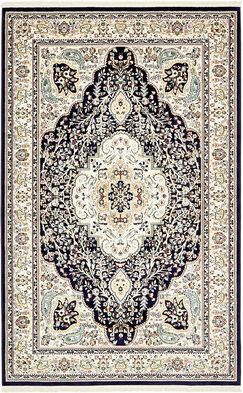 Quince Navy Blue Area Rug Rug Size: Rectangle 5' x 8'