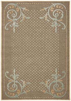 Scrollwork Hand-Loomed Brown Area Rug Rug Size: Rectangle 7'10