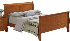 Lisle Sleigh Bed Size: Twin, Color: Light Oak