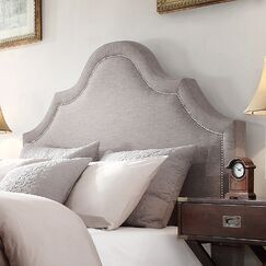 Carver Upholstered Panel Headboard Size: Full, Upholstery: Gray