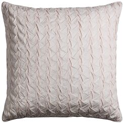 Lilas Cotton Voile Throw Pillow Color: Pink