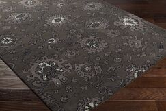 Ivan Hand-Tufted Taupe/Black Area Rug Rug Size: Rectangle 5' x 7'6