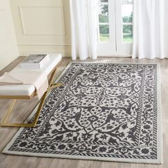 Ellicottville Hand-Tufted Silver/Gray Area Rug Rug Size: Rectangle 8' x 10'