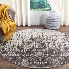 Ellicottville Hand-Tufted Brown/Gray Area Rug Rug Size: Round 6'