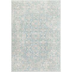 Velay Blue Area Rug Rug Size: Rectangle 6'8