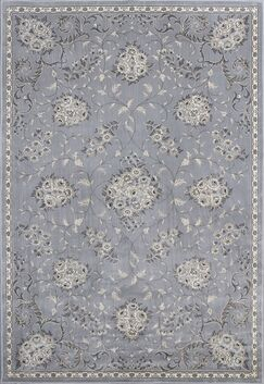 Romola Silver Bouquets Area Rug Rug Size: 3'3