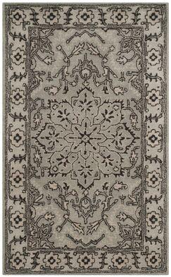 Evans Hand-Tufted Gray/Beige Area Rug Color: Grey / Beige, Rug Size: Rectangle 3' x 5'