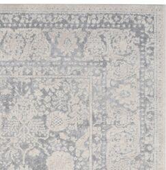 Pellot Light Gray/Cream Area Rug Rug Size: Rectangle 4' x 6'
