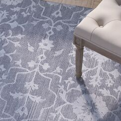 Poirier Hand-Knotted Medium Gray Area Rug Rug Size: Rectangle 6' x 9'