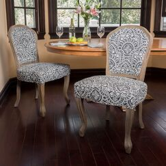 Ouellet Dining Chair Upholstery Color: Black/White