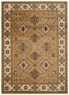 Fitch Gold Rug Rug Size: Rectangle 3'11