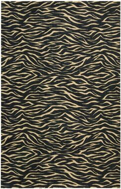 Dunnstown Hand-Woven Midnight Area Rug Rug Size: Rectangle 5'3