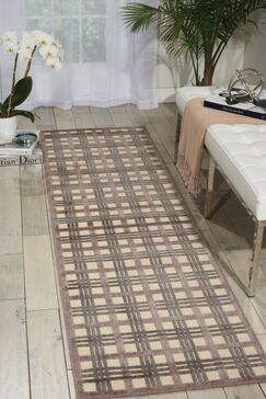 Burnham Ivory/Brown Area Rug Rug Size: Rectangle 2'3