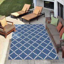 Crestmont Navy Indoor/Outdoor Area Rug Rug Size: Rectangle 10' x 13'