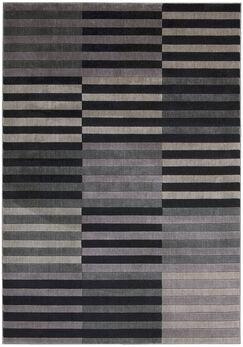 Kaiti Hand Woven Black/Gray Area Rug Rug Size: Rectangle 9'6