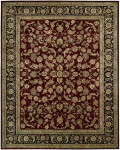 Ellerswick Hand Woven Wool Red/Green Indoor Area Rug Rug Size: Rectangle 2' x 3'