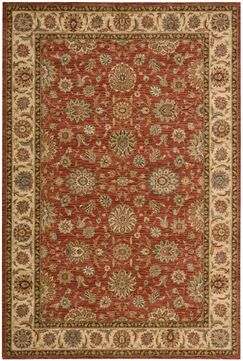 Crownover Wool Rust Area Rug Rug Size: Rectangle 8'3
