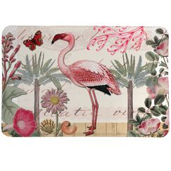 Botanical Flamingo Mat