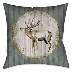 Englert Deer Throw Pillow Size: 18