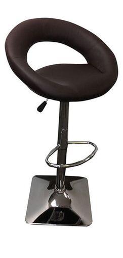 Leann Adjustable Height Swivel Bar Stool Upholstery: Chocolate